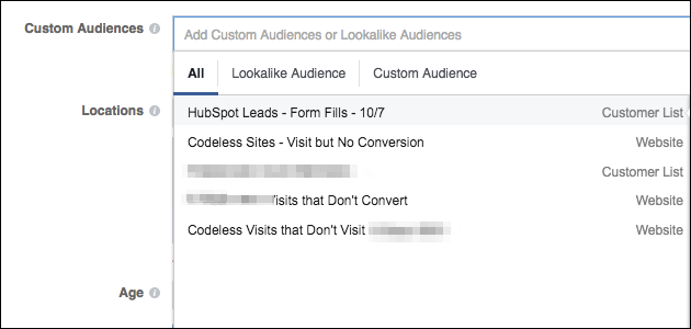 troubleshooting facebook ad audiences