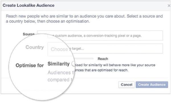 Facebook ad targeting create lookalike audience
