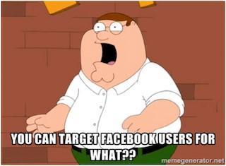 Facebook ad targeting Family Guy meme