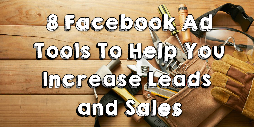 Facebook ad tools header