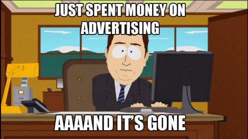 SaaS Facebook Ads South Park and it's gone meme