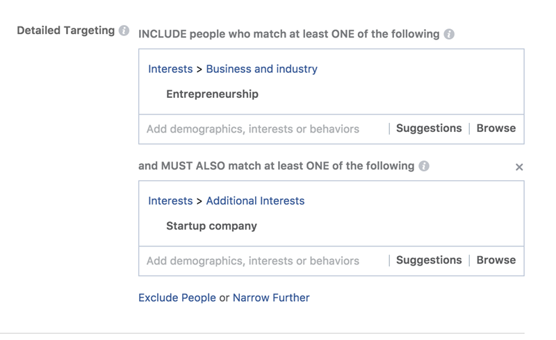Facebook ad costs detailed targeting options