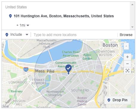 facebook ads one mile targeting radius