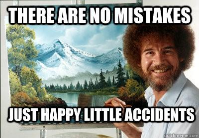 Facebook advertising cost Bob Ross happy little accidents