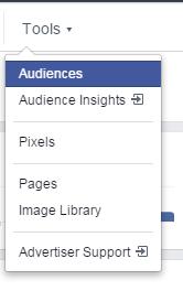 Facebook advertising cost create audience