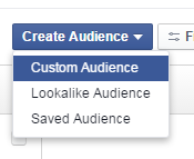 Facebook advertising cost create custom audience