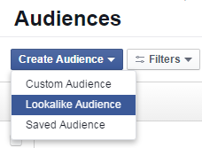 Facebook advertising cost lookalike audience
