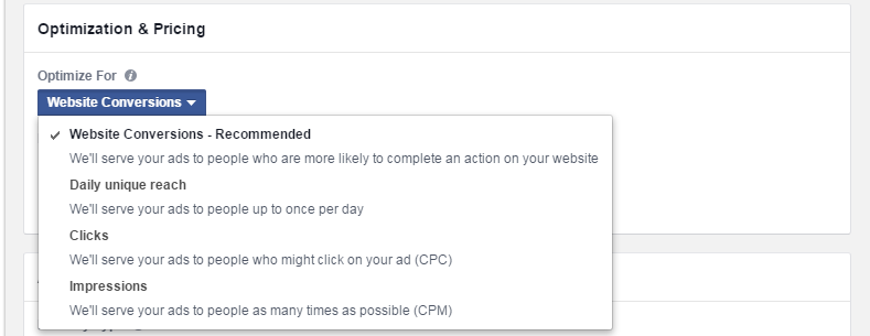 Facebook advertising cost optimization delivery