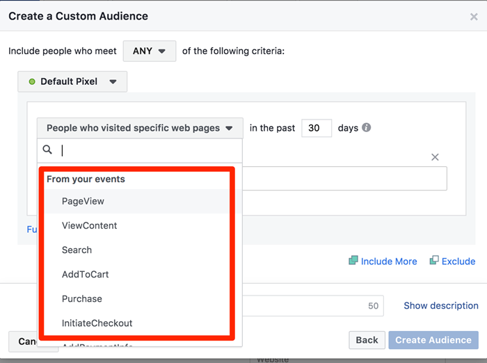 facebook audience exclusions