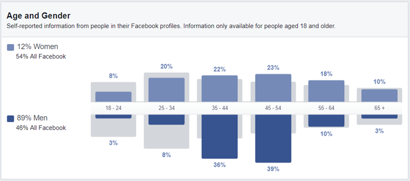 Facebook Ads custom audience targeting age demographics