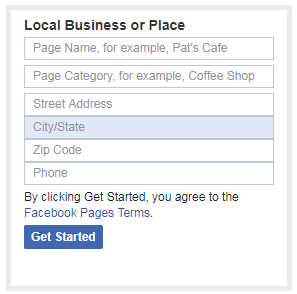 facebook business information initialization