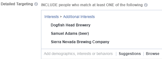 facebook competitor ads interest targeting
