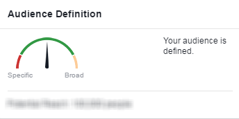 Facebook conversion tracking audience definition meter