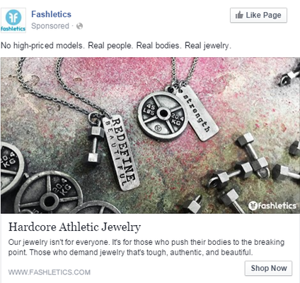 Facebook conversions ad example