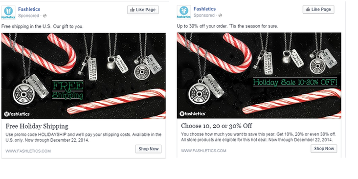 Facebook conversions ad test