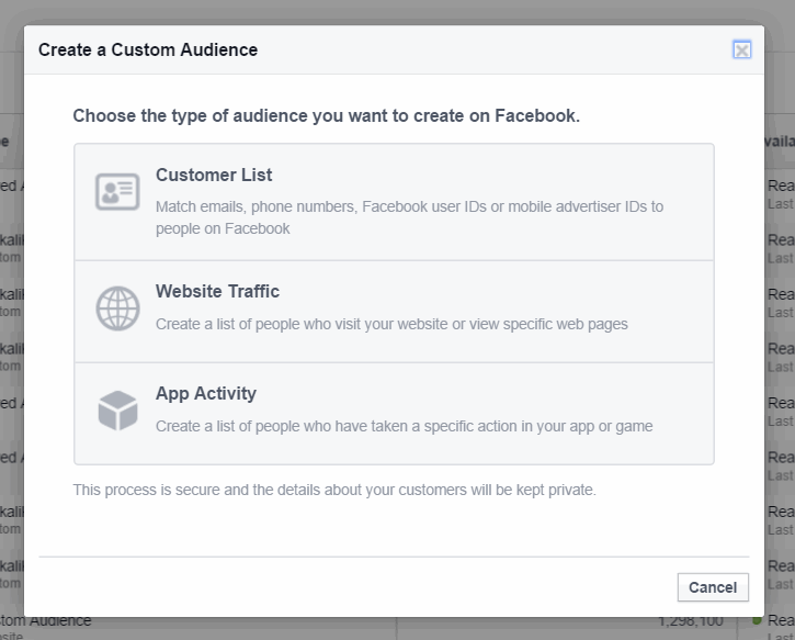 facebook custom audiences gdpr