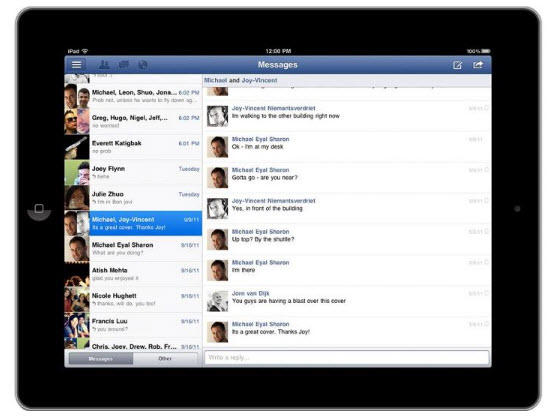 Facebook on the iPad