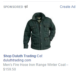 Facebook landing pages Duluth ad