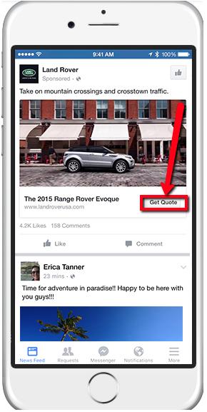 Facebook Lead Ads contextual calls-to-action