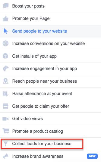 using facebook lead capture ads for webinar registrations