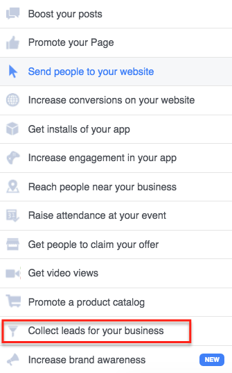 using facebook lead capture ads for webinar registrations