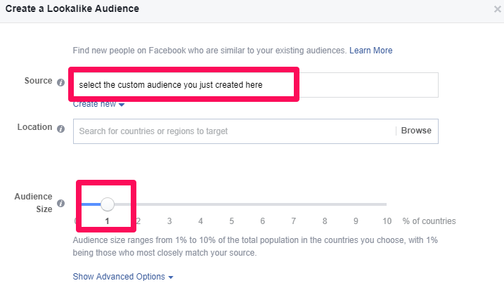 create lookalike audiences based on users who have interacted with your blog posts
