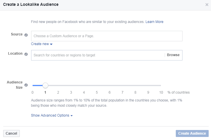 facebook lookalike audience size