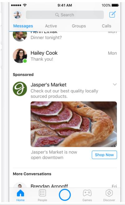 facebook messenger ad 2018
