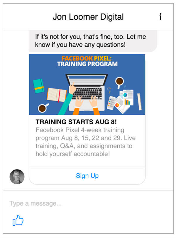 facebook messenger ad chat bots
