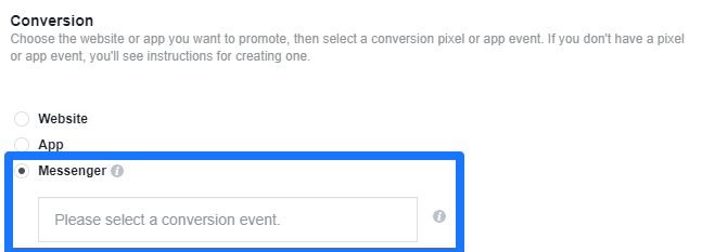 facebook messenger ads conversion tracking