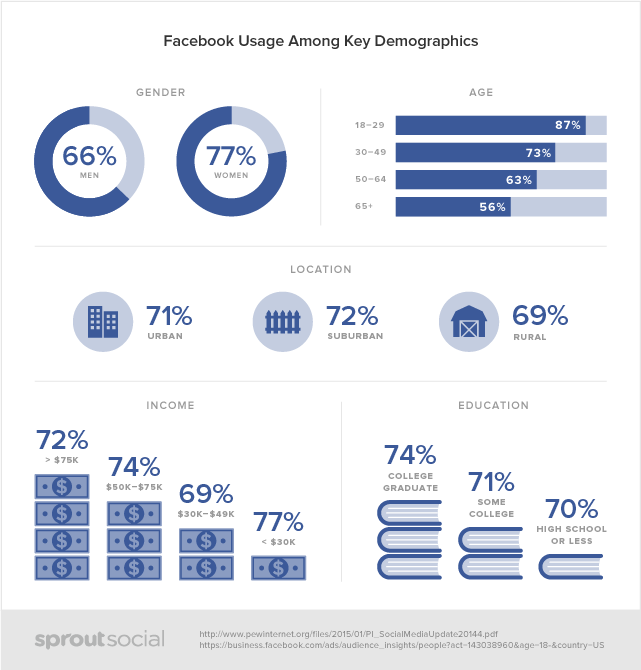 sprout social's facebook demographics infographic