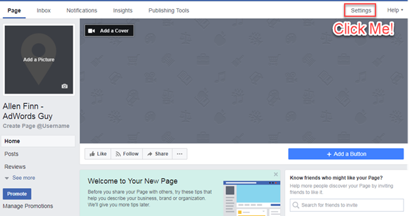 Facebook business page template free idealstalist facebook business page template free wajeb Image collections