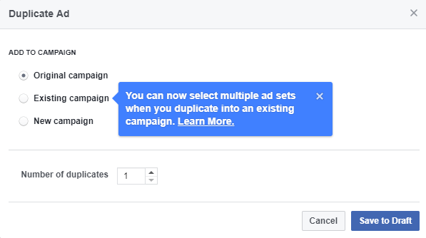 facebook power editor duplicate ads
