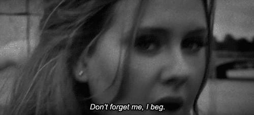 "Facebook remarketing funny gif of Adele saying ""Don't forget me, I beg"""