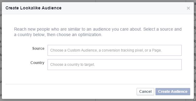Facebook audience lookalike