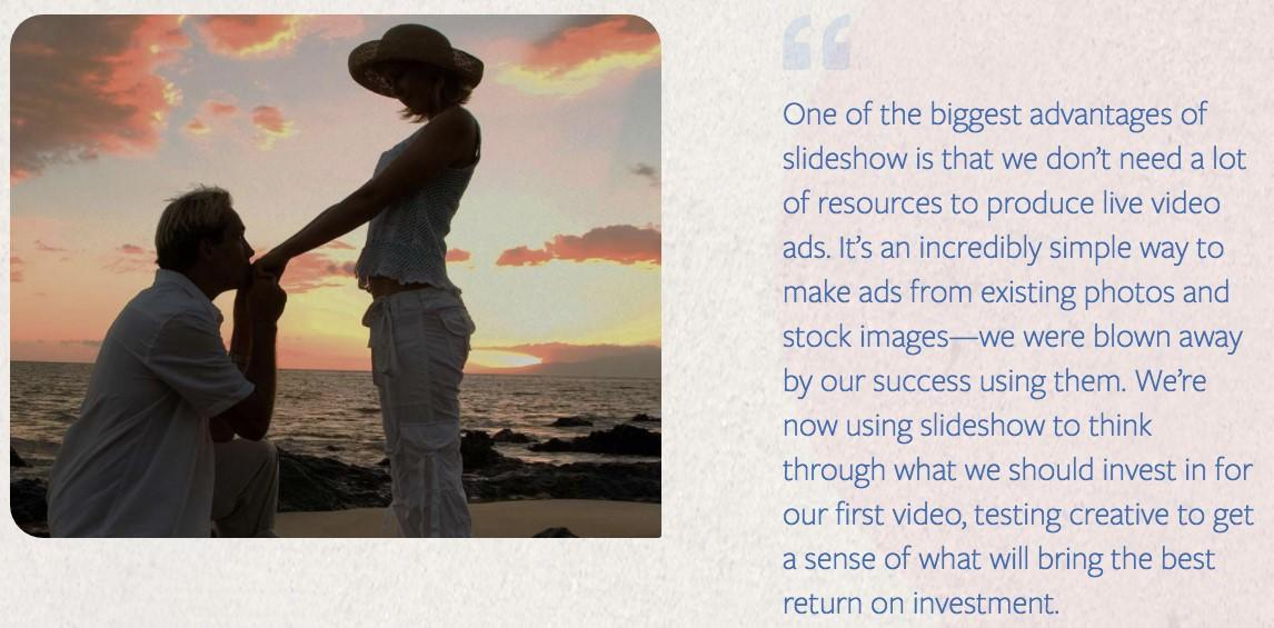 creating facebook slideshow ads