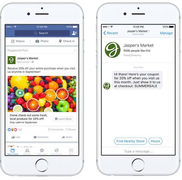 facebook sponsored messages
