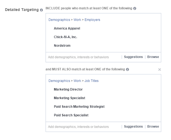 detailed facebook targeting