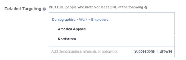 facebook targeting