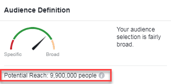 underdefined facebook audience too much reach
