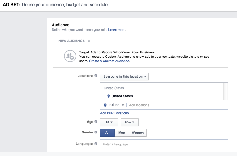facebook video ads audience