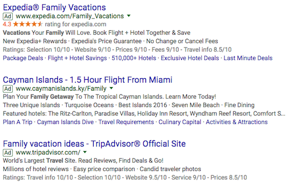 travels ads google
