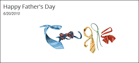 Father's Day Google Doodle