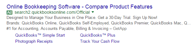 Features vs benefits ad example 1