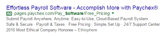 Features vs benefits ad example 2