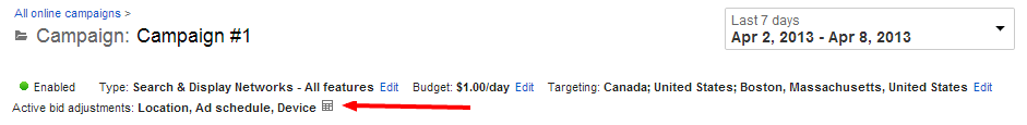 Find AdWords Bid Adjustment Calculator