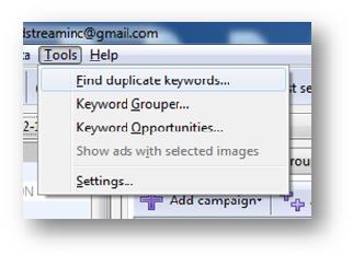 Duplicate Keywords