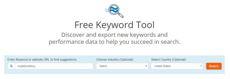 Find things to write about WordStream Free Keyword Tool example screenshot