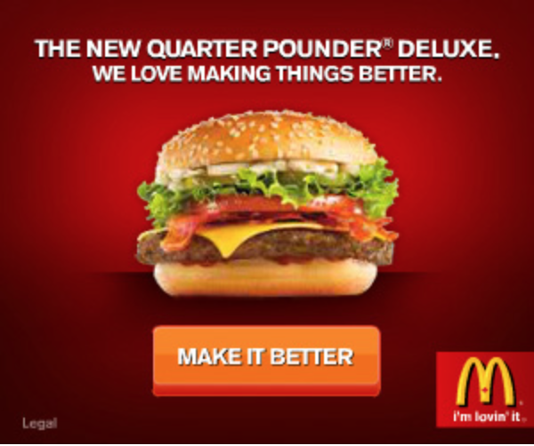 Food and restaurant advertising tips McDonald's quarter pounder Make It Better ad