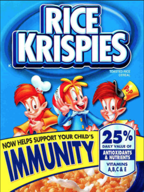 Food and restaurant advertising tips Rice Krispies misleading immunity claim